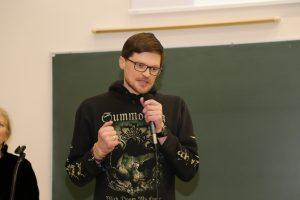 Prof. Giedrius Alkauskas KTU MGMF Respublikiniame prof. Jono Matulionio jaunųjų matematikų konkurse